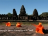 Flower in front of Phimai Monument
