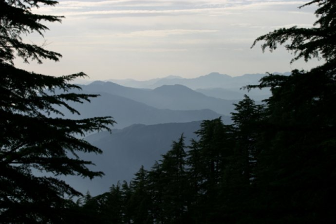 View of the Uttaranchal hills from Landour
